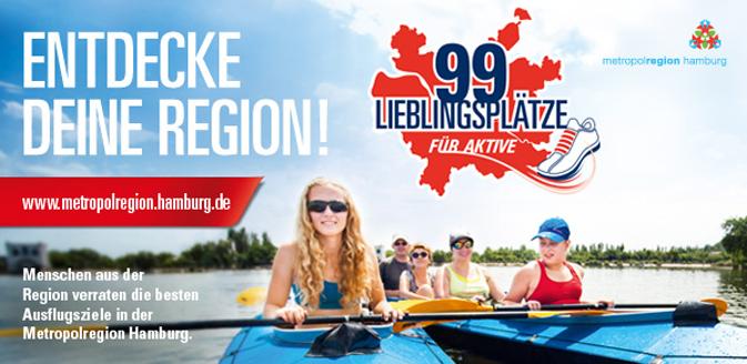 99 Lieblingsplätze für Aktive in der Metropolregion Hamburg